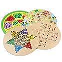 Goodgoods おもちゃ 五目並べ 連珠 知育玩具 子供 ボードゲーム チェッカー ダイヤモンドゲーム 013-lzgy-058(直径28cm 約1200g)