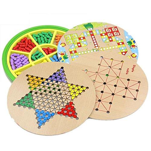 Kayiyasu カイヤス おもちゃ 五目並べ 連珠 知育玩具 ボードゲーム チェッカー 子供 ダイヤモンドゲーム 021-lzgy-058(直径28cm 約1200g )の商品画像