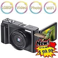 Digital Camera Vlogging Camera Camcorder 24MP Full HD...