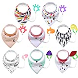 Aniwon 8PCS Baby Bib Infant Bib Double Layer