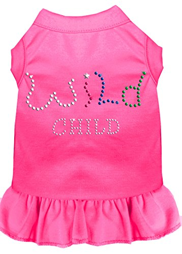 Mirage Pet Products 57-22 SMBPK Pink Rhinestone Wild Child Dress Bright, Small