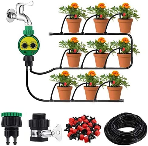 KINGSO 25m Drip Irrigation Kit with Timer