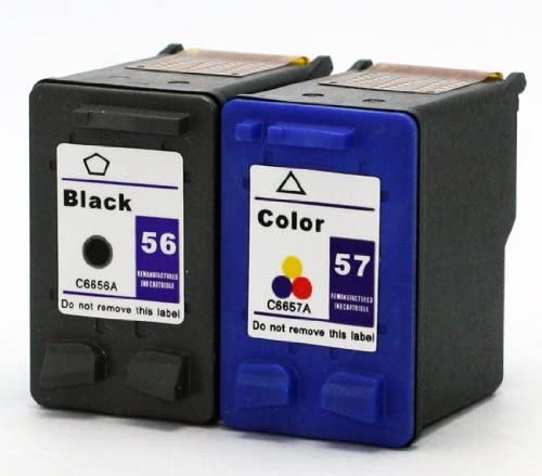 2pk Axiom Remanufactured Compatible Ink Cartridge For HP 56 57 Combo For Officejet 4110 4215 5505 5510 6110 Printer