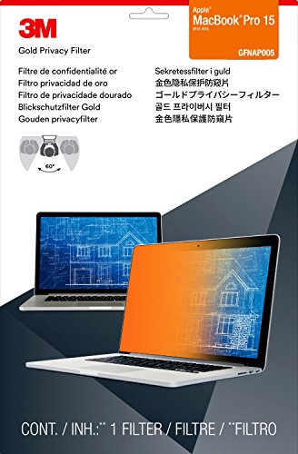 """3M Gold Privacy Filter for 15"""" Apple MacBook Pro with Retina Display (2012-2015 Model) (GFNAP005)"""