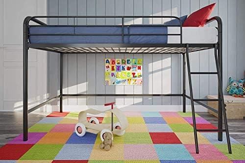 dhp junior loft bed frame with ladder, multifunctional space-saving design, black DHP Junior Loft Bed Frame with Ladder, Multifunctional Space-Saving Design, Black 5111UKrmwiL