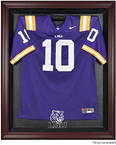 LSU Tigers Mahogany Framed Logo Jersey Display Case by Sports Memorabilia