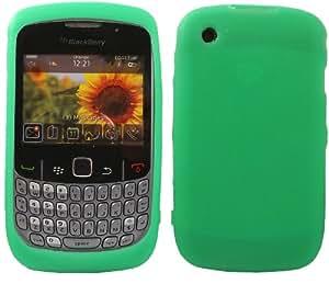 Silicona Caso Cubrir Concha Para Blackberry Curve 8520 8530 3G 9300 / Green