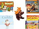 Children's Gift Bundle - Ages 3-5 [5 Piece] - Shrek Forever After Memory Game - Disney Jake and The Never Land Pirates Puzzle Toy - Ty Beanie Baby - Chocolate the Moose - Cuddle. Hardcover Book - Wh