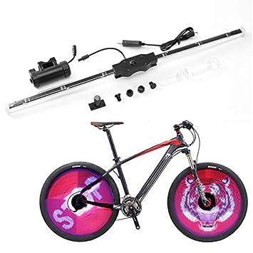 GUANLIAN DIY 64 Luces de Bicicleta para radios de Ruedas LED Coloridas de Doble Cara visualización ...