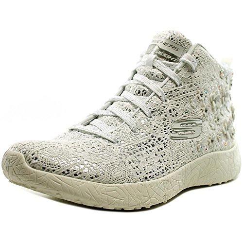 Skechers Burst Seeing Stars High Top Women US 8.5 White Sneakers (Skechers Canvas Sneakers)
