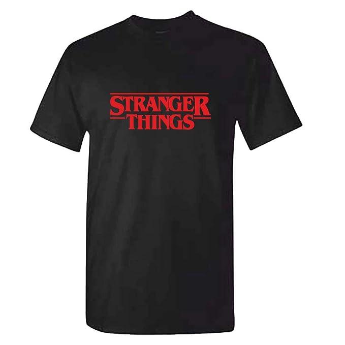 MITEES Unisex Stranger Things Camiseta Verano para Hombres y Mujeres Tshirt: Amazon.es: Ropa y accesorios