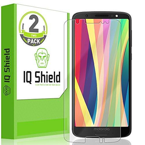 IQ Shield LiQuidSkin Full Coverage Screen Protector for Moto G6 (2-Pack) HD Clear Anti-Bubble Film