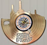 #10: Pink Floyd Laser Cut Gold Plated LP Record Wall Clock