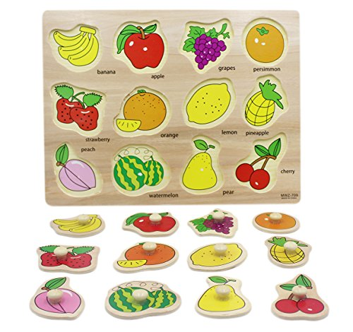 Cheap Ai bearty Colorful Wooden Puzzles Kids Preschool Jigsaw Toys,Fruit for sale