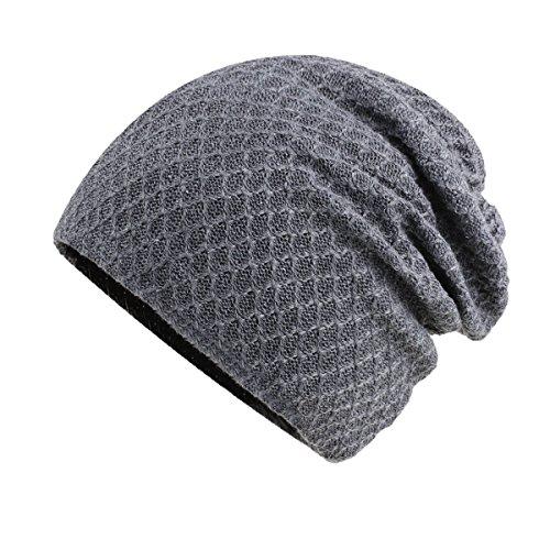GEXING Sombrero Para Mujer De Los Hombres Sombrero De Invierno Caliente De Lana Sombrero De Lana De Invierno Sombrero De Algodón Para Jóvenes Sombrero De Cabeza Sombrero De Invierno Grey