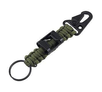 ZENDY Paracord mosquetón Llavero Cuerda con Equipo de ...