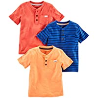 Simple Joys by Carter's Baby Boys' Toddler 3-Pack Short Sleeve Henley