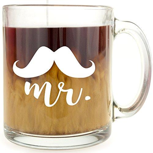 Mustache - Mr. - Glass Coffee Mug