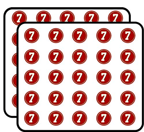 Round #7 Colin Kaepernick 49ers Colors (san Francisco Number 7) Sticker for Scrapbooking, Calendars, Arts, Kids DIY Crafts, Album, Bullet - Calendars Francisco San 49ers