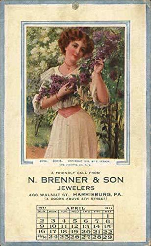 Vintage Advertising Postcard: N. Jenner & SonJewelers Harrisburg, Pennsylvania from CardCow Vintage Postcards