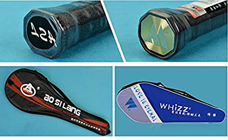Amazon.com : 2pcs Lining Carbon Fiber Badminton Rackets High-end Racquet with Bag Color Blue&Pink : Sports & Outdoors