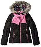 London Fog Girls' Puffer Jacket with Accessory