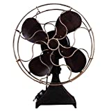 GL&G Manual Iron art Retro fan model Photography props Home bar Decorative crafts Tabletop Scenes Ornaments Collectible High-end gift Keepsakes,291737cm