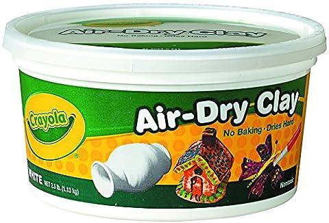 Crayola Air Dry Clay 2.5 Lb Bucket, White (Playdoh People)