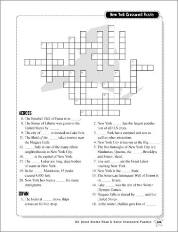 Amazon Com 50 Great States Read Solve Crossword Puzzles En Ing Reproducible Nonfiction P Ages About Each State With Fun Crosswords That Help Build