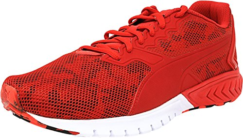 PUMA Men's Ignite Dual Camo Running Shoe, High Risk Red, 7 M US