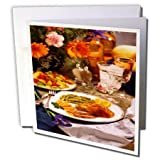 3dRose TDSwhite – Farm and Food - Food Healthy Meals - 6 Greeting Cards with Envelopes (gc_285156_1)