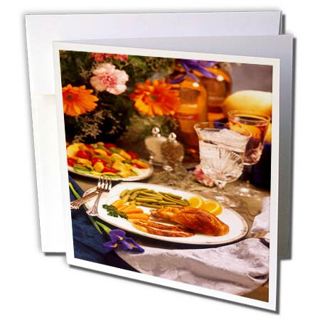3dRose TDSwhite – Farm and Food - Food Healthy Meals - 6 Greeting Cards with Envelopes (gc_285156_1) by 3dRose