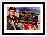 ADVERT MOVIE FILM THIRTY SECONDS TOKYO SPENCER TRACY FRAMED ART PRINT B12X6509