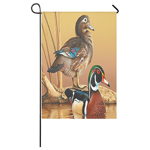 (Friends Novelty Birthday Gifts Presents Cute Mallard Ducks Pattern Outdoor Summer Holiday Welcome Home Garden House Flag Fabric 28 x 40 inches)