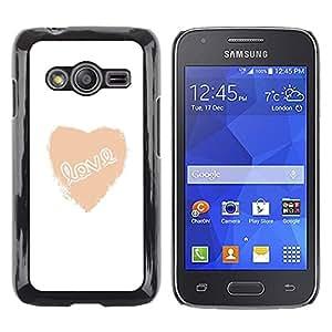 TopCaseStore / la caja del caucho duro de la cubierta de protección de la piel - Love Heart White Text Minimalist Valentines - Samsung Galaxy Ace 4 G313 SM-G313F