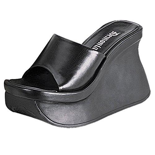 Demonia - Defining Alternative Footware Keilabsatz Plateau Sandale Pace-01