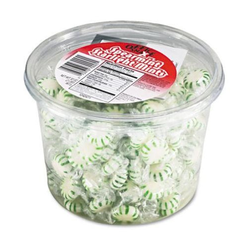 2 Lb Candy Tubs (Office Snax 70005 Starlight Mints, Spearmint Hard Candy, Indv Wrapped, 2lb Tub by Office Snax)