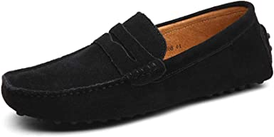Strher Mocasines Hombre Buena Calidad Cuero de Gamuza Loafers Casual Zapatos de Conducción Comodidad Calzado Plano 38-49 EU: Amazon.es: Ropa y accesorios