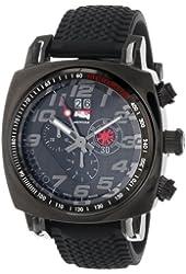Ritmo Mundo Men's 221 INDYCAR Series Black Stainless Steel Watch with Tire-Tread Strap