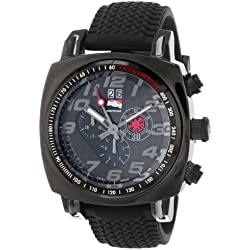 Ritmo Mundo Men's 221 INDYCAR Series Black Stainless Steel Watch with Tire-Tread Strap