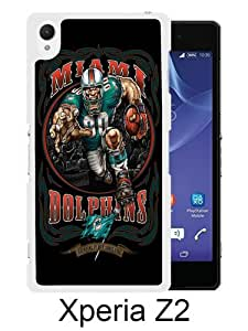 Miami Dolphins 01 White Sony Xperia Z2 Screen Phone Case Durable and DIY Cover