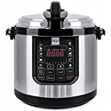 : Best Choice Products 6-Liter 1000 Watt Stainless Steel Electric Pressure Cooker W/ LED Display Screen