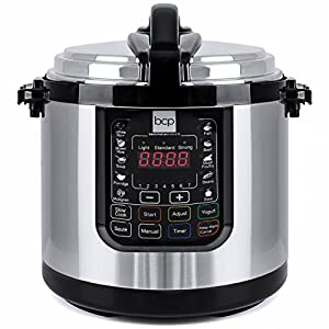Best Choice Products 6L 1000W Multifunctional Stainless Steel Non-Stick Electric Pressure Cooker w/LED Display Screen… 7