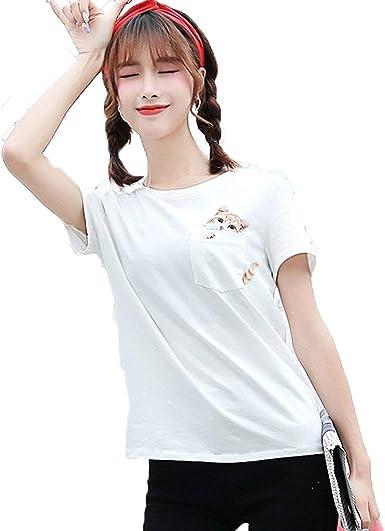 Mujer Camisetas Verano Cartoon Animal Estampadas Camisas ...
