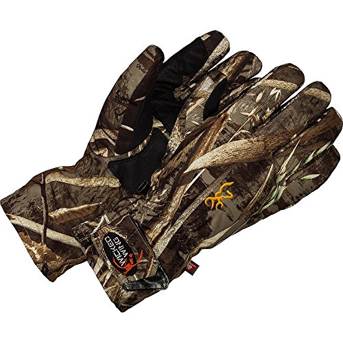 Browning Duck Blind - Browning Wicked Wing Insulated Gloves, Realtree Max5, Medium