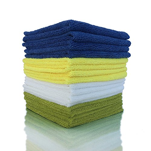 ViroKleen Microfiber Cleaning Cloth 12Qty Cleans with Very Little Effort, Ideal for Cleaning & Dusting your Valuable Goods from Electronics, Glass, IPad, TV Screens, Kitchen, Car, Furniture Polishing