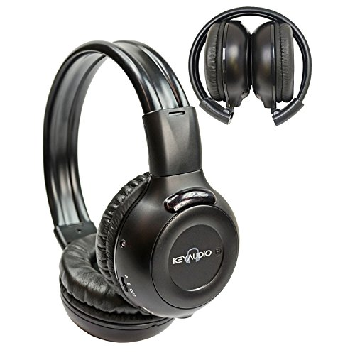 1 Two Channel Folding Adjustable Universal Rear Entertainment System Infrared Headphone With Additional 48