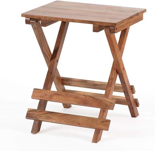 Madeleine Home Vienne - Mesa auxiliar pequeña plegable de madera ...