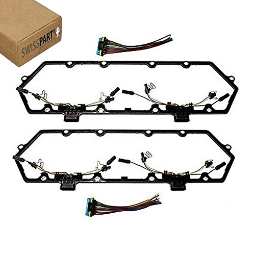 Glow Plug Fuel - Valve Cover Gasket With Fuel Injector Glow Plug Harness For Ford 1997 - 2003 F250 F350 7.3L Diesel Powerstroke Trucks