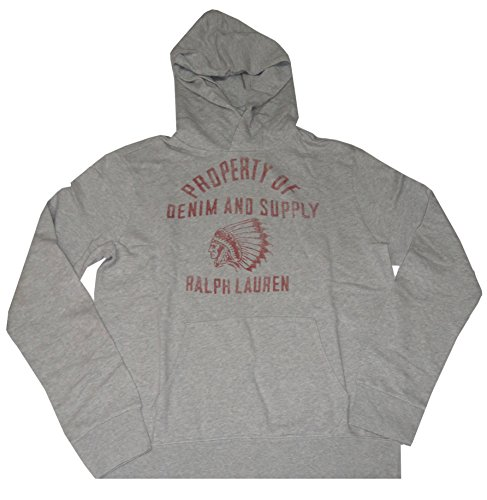 Ralph Lauren Denim & Supply Hooded Sweat Jacket Hoodie Granite Heather (Medium)